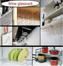 "Wine Glass Wall Rack Holders Hanger glassrack Cup Kitchen Bar 12"" 15 3/4"""