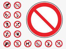Luogo di lavoro di emergenza Prohibition Health & Safety segni IMPERMEABILE COSHH HACCP