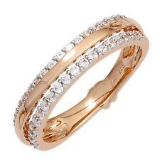 Anillo DE ORO CON 38 diamantes brillantes 585 rojo Bicolor Dedos