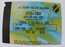 OLD TICKET UEFA AIK Solna Sweden - IB Vestmannyear Iceland