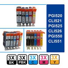 15 Chipped Ink Cartridges for Canon PIXMA Printer PGI550 CLI551 525 526 520 521