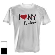 I Love Rostock Herren T-Shirt Fun Shirt Ich liebe meine Stadt Herz NY Urlaub