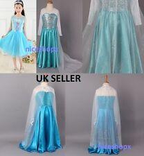 Niñas Vestidos De Fiesta Reina Elsa congelados Vestido Disfraz Princesa Elsa Vestidos De Fiesta