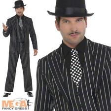 VINTAGE Gangster BOSS Vestito Da Uomo Costume 1920s Costume 20s Mafia Outfit Nuovi