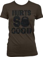 Hurts So Good Kettle Bells Gym Workout Lifting Training Juniors T-shirt