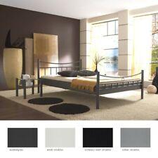 Metallbett Saeko Nachttisch Farbe und Größe nach Wahl Doppelbett Schlafzimmer