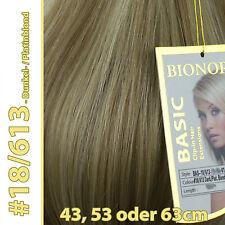 Clip-in Extensions mit Echthaar #18/613 Blond-Mix 40 50 60 + cm Haarverlängerung