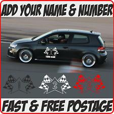 Nombre Personalizado & no. los números de seguimiento de día número de coche carreras número de carreras Banger