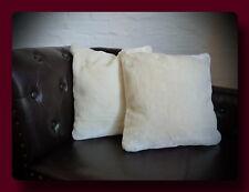 Kissen Kissenhülle Dekokissen im Glanz - Design Farbe elfenbein / weiss