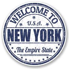 2 x 10cm New York USA Vinyl Sticker iPad Laptop Car Travel Luggage Tag Fun #5221