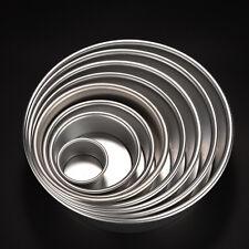 New 8 Size Metal Removable Bottom Round Cake Baking Mould Pan Bakeware Tool TA