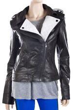 Women Leather Jacket Soft Solid Lambskin New Handmade Motorcycle Biker S M # 41