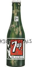 "(7UP 407) 12"" 7UP 7 UP BOTTLE   COOLER POP soda coca cola machine decal"