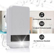 [Eco-Friendly] Self-Power 1000FT/300m Wireless Doorbell Receiver &Transmitter US