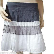 CHIPIE jupe plissé femme blanche et grise