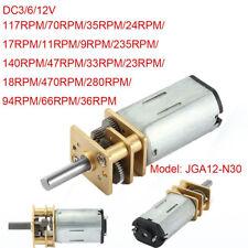 Mini Legierung Stahl n30 Getriebemotor DC 3v 6v12v Micro Gear Motor