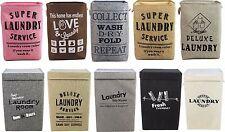 Cubo de lavado de ropa de ropa plegable grande/Bolsa/Cesto Cesta - 10 Diseños