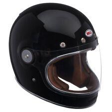 Bell Bullitt DLX Solid Black Retro Vintage Motorcycle Motorbike Helmet