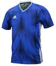 Adidas Hombres Tiro 19 Camisetas jersey camisa top informal de fútbol de  entrenamiento azul DP3532 ff137d26051ef