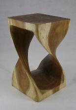 Teak Holz Twist Hocker Suar Deko Design Stuhl massiv Ablage Bank Natur Trend