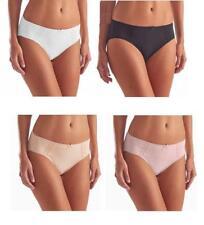 NEW Karen Neuburger Women's Hi-Cut Brushed Microfiber Lace Briefs 4 Pack-VARIETY