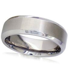 7mm Beveled Edge Comfort Fit Titanium Wedding Band
