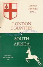 Londra contee V Sudafrica 1960 PROG & menu HJC