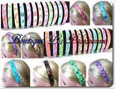 Haarreif Acryl Haarreifen Haarschmuck Blumen Leo Metallik 13 Farben Glatt Paris