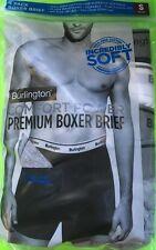 "MENS' 4-PK 'BURLINGTON COMFORT POWER PREMIUM BOXER BRIEFS' SIZE SMALL 28-30"" NIP"