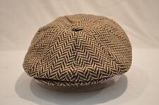 GENTS RETRO STYLE 8 PIECE NEWSBOY BAKER BOY CAP 8-PANEL HAT 1920'S 1930'S