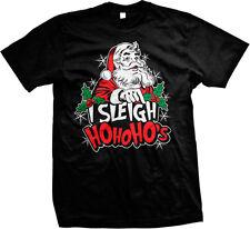 I Sleigh Ho Ho Ho's Santa Claus Christmas Funny Humor Pun Joke Mens T-shirt