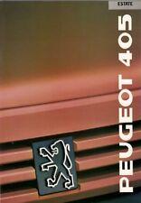 Peugeot 405 Estate 1988-89 UK Market Sales Brochure GTX GR GL GE
