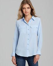 NEW EQUIPMENT SILK BLOUSE WOMEN SLIM SIGNATURE Shirt Periwinkle blue XS/S/M $204