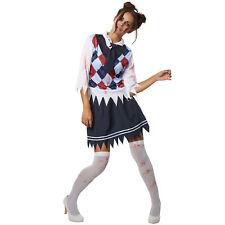 Kostüm Damen Zombie Schuldmädchen High School Horror Fasnacht Karneval Halloween