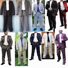 Herren Anzug Weiß Schwarz Blau Rot Silber Glanz Herrenanzug Sakko u Hose