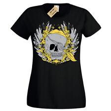 Pirate Skull Wreath T-Shirt Womens Ladies