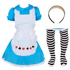 Ragazze Alice nel Paese delle Meraviglie Costume Completo OUTFIT PER PRENOTARE SETTIMANA