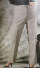 Hose Damen Business Anzughose Bundfalten Nadelstreifen grau Gr. 38 - 44