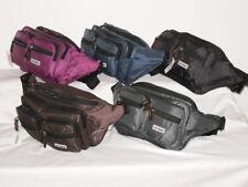Large Nylon Waist Travel Camping Wrap Around Carryring Waist Bag 7 Zips.