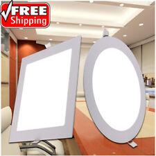 3W 6W 9W 12W 15W 18W 21W 24W LED Recessed Ceiling Light Panel Ultra Thin Slim