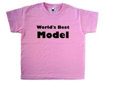 WORLD'S BEST MODELLO PINK KIDS T-SHIRT