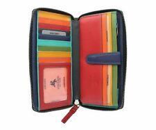Visconti Leather Spectrum Collection IRIS Zip Round Purse, RFID Protection SP33