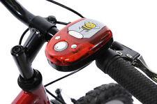 BATTERIA ciclo Hooter rosso multi suono LUCE LED BICI ELETTRICA / SCOOTER CORNO