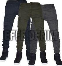 Pantaloni uomo Cargo Tasconi Laterali Slim elasticizzati multitasche Jeans 22-95