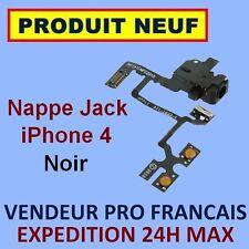 ✖ NAPPE PRISE JACK ET BOUTONS VOLUME VIBREUR POUR IPHONE 4 NOIR ✖ NEUF ENVOI 24H