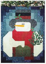 My Snowman applique quilt pattern Prairie Grove Peddler