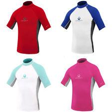 Legacy Kids Short Sleeve Childs Boys Girls Junior Rash Vest Wetsuit Guard UV50+