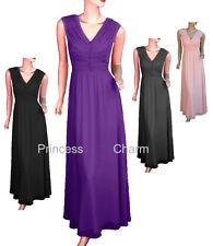 Formal Evening Wedding Bridesmaids Dress Mother of Bride Black Purple Grey Pink