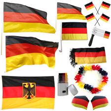 Fanartikel WM 2018 Deutschland Schal Fahne Flagge Autofahne Ratsche Fußball