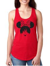 womens girls disney minnie mouse tank top sleeveless glitter top quality shirt